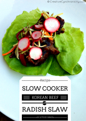 Slow Cooker Korean Beef with Radish Slaw Recipe