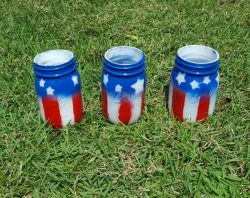 Show your love for the USA with these DIY American Flag Mason Jars. Full tutorial so you can make your own.