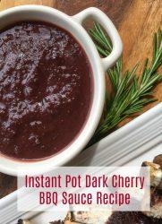 Instant Pot Dark Cherry BBQ Sauce Recipe